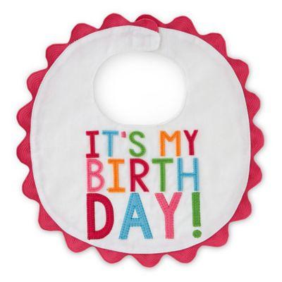 "Mud Pie® ""It's My Birthday"" Piqué Bib in Multicolor"