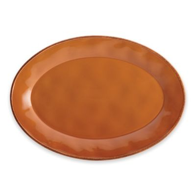 Rachael Ray Cucina Stoneware Oval Platter in Orange