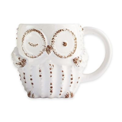 American Atelier Owl Mug in White