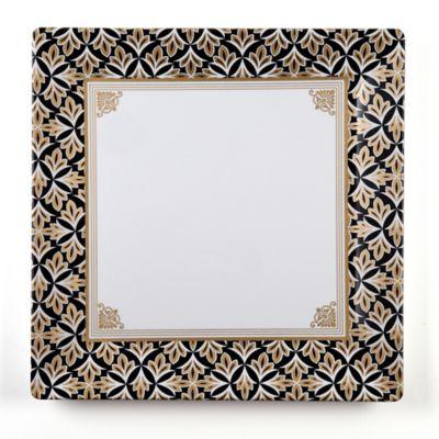 Essex Square Platter in Black/Gold