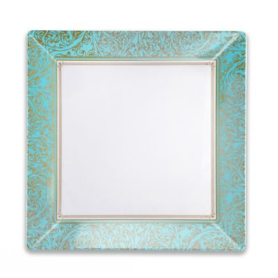 Blue Gold Square Platter