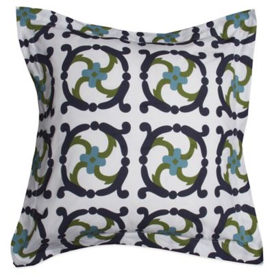COCOCOZY™ Embroidery European Pillow Sham in Navy