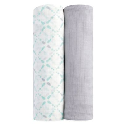 aden® by aden + anais® 2-Pack swaddleplus® Blankets in Bitsy