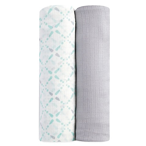 Swaddle Blankets > aden® by aden + anais® 2-Pack swaddleplus® Blankets in Bitsy