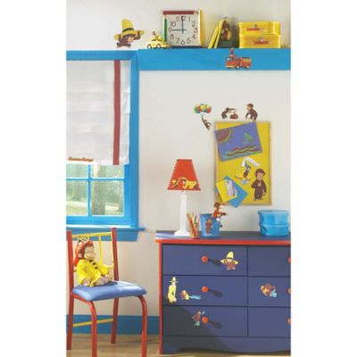 York Wallcoverings Curious George Peel and Stick Wall Decals