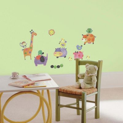 York Wallcoverings Polka Dot Piggy Peel and Stick Wall Decals