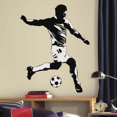 York Wallcoverings Soccer Player Peel and Stick Giant Wall Decals