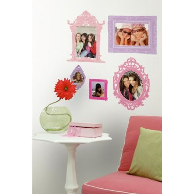 York Wallcoverings Pink and Purple Frames Peel and Stick Giant Wall Decals (Set of 12)