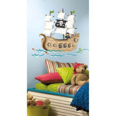York Wallcoverings Pirate Ship Peel and Stick Giant Wall Decals (Set of 21)