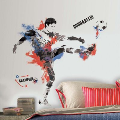 York Wallcoverings Men's Soccer Champion Peel and Stick Giant Wall Decals (Set of 22)