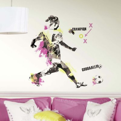 York Wallcoverings Women's Soccer Champion Peel and Stick Giant Wall Decals (Set of 21)