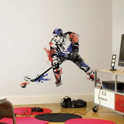 York Wallcoverings Men's Hockey Champion Peel and Stick Giant Wall Decals (Set of 9)
