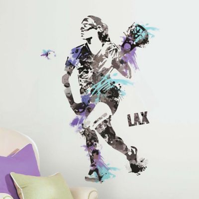 York Wallcoverings Women's Lacrosse Champion Peel and Stick Giant Wall Decals (Set of 9)
