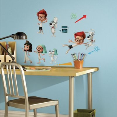 York Wallcoverings Mr. Peabody & Sherman Peel & Stick Wall Decals (Set of 20)