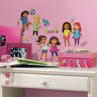 "York Wallcoverings Dora and Friends ""Hola Amigas!"" Wall Graphix Peel & Stick Wall decals (Set of 47)"