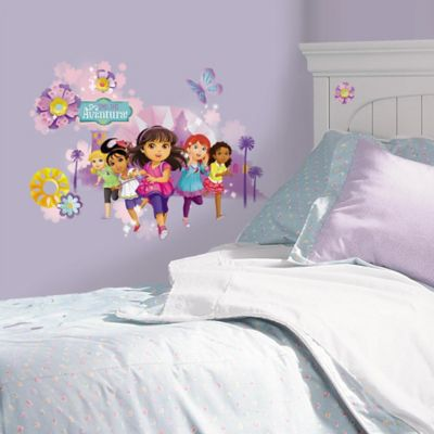 "York Wallcoverings Dora and Friends ""Aventura"" Wall Graphix Peel & Stick Wall Decals (Set of 8)"
