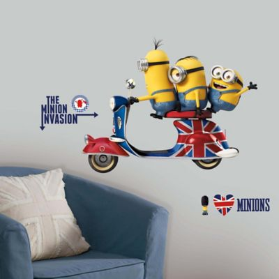 """York Wallcoverings """"Minions"""" The Movie 10-Piece Peel and Stick Giant Wall Decals"""