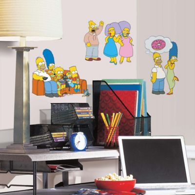 "York Wallcoverings ""The Simpsons"" 34-Piece Peel & Stick Wall Decals"