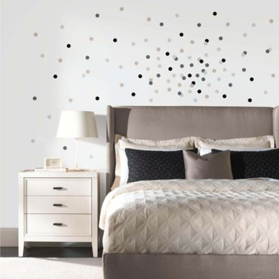 York Wallcoverings Neutral Confetti Dots 180-Piece Peel & Stick Wall Decals