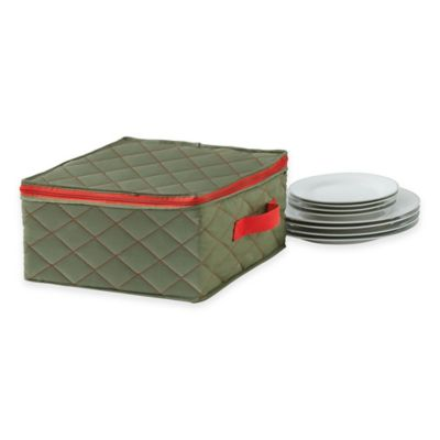 "Real Simple® Quilted Three-Layer 12"" Dinner Plate Cover"