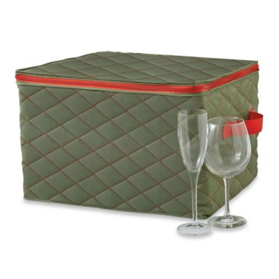 Real Simple® Quilted Three-Layer Stemware Cover