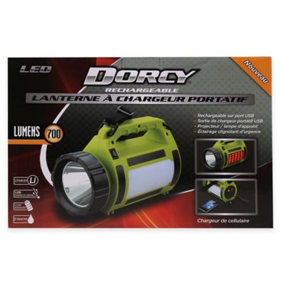 Dorcy® LED Rechargeable Lantern with Power Bank in Lime