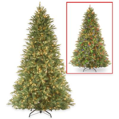 National Tree 7.5-Foot Pre-Lit Feel-Real Tiffany Fir Christmas Tree with 750 Dual-Color LED Lights