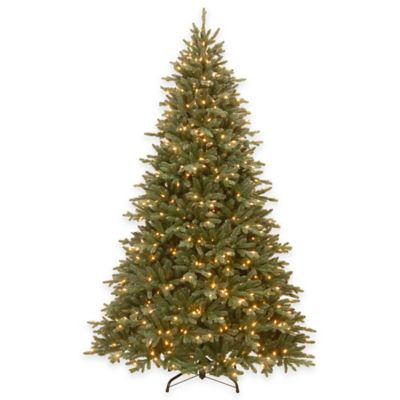 National Tree 7.5-Foot Pre-Lit Feel-Real Ashfield Frosted Fir Christmas Tree with 750 Clear Lights
