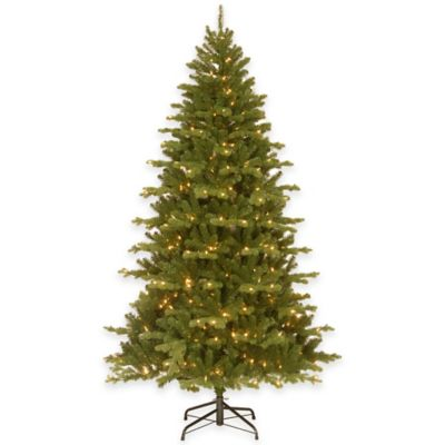 National Tree Sheridan Spruce 7.5-Foot Feel-Real Christmas Tree with Dual-Color LED Lights
