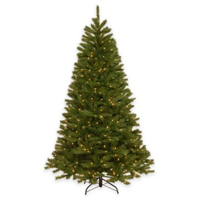 National Tree 7.5-Foot Peyton Spruce Pre-Lit Hinged Christmas Tree with Clear Lights