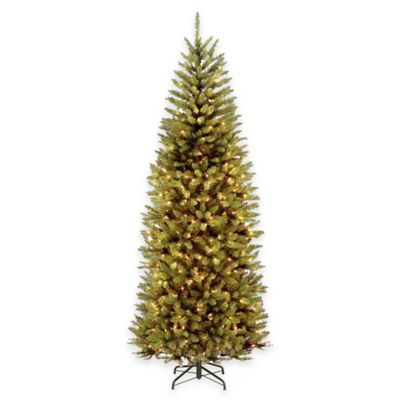 National Tree 7.5-Foot Kingswood Fir Slim Pre-Lit Hinged Christmas Tree with Dual-Color LED Lights
