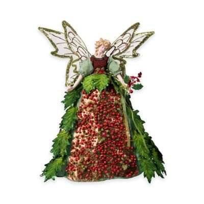 Holly Angel 16-Inch Figurine Tree Topper