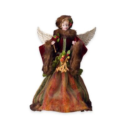 Holiday Angel 16-Inch Figurine Tree Topper