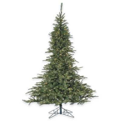 Fraser Hill Farm 7.5-Foot Pre-Lit Clear Cluster Pine Artificial Christmas Tree
