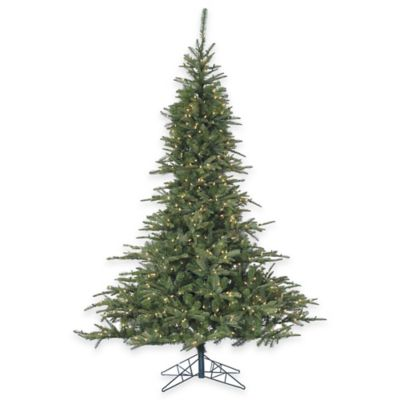 Fraser Hill Farm 7.5-Foot Pre-Lit Multi-Colored Cluster Pine Artificial Christmas Tree