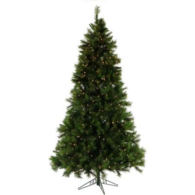 Fraser Hill Farm 7.5-Foot Pre-Lit Clear Canyon Pine Artificial Christmas Tree