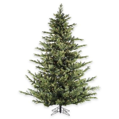Fraser Hill Farm 7.5-Foot Pre-Lit Clear Foxtail Pine Artificial Christmas Tree