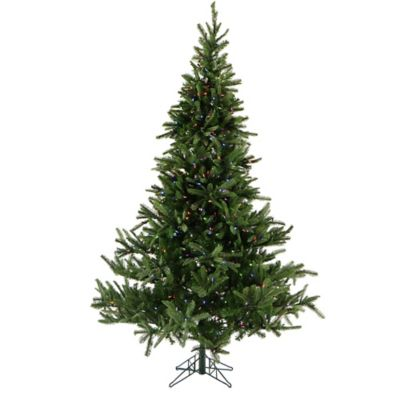 Fraser Hill Farm 7.5-Foot Pre-Lit Multicolored Foxtail Pine Artificial Christmas Tree