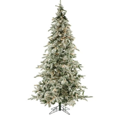 Fraser Hill Farm 7.5-Foot Pre-Lit Smart Lighting Mountain Pine Artificial Christmas Tree