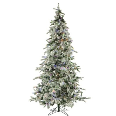 Fraser Hill Farm 7.5-Foot Pre-Lit Multi-Colored Mountain Pine Artificial Christmas Tree