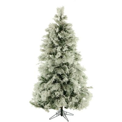 Fraser Hill Farm 7.5-Foot Flocked Snowy Pine Artificial Christmas Tree