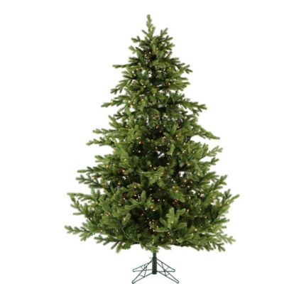 Fraser Hill Farm 7.5-Foot Pre-Lit Clear Southern Peace Pine Artificial Christmas Tree