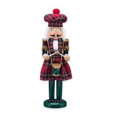 Nutcracker 15-inch Tartan Plaid Kilt Figurine
