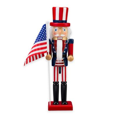 Nutcracker 15-Inch Patriotic Uncle Sam Figurine