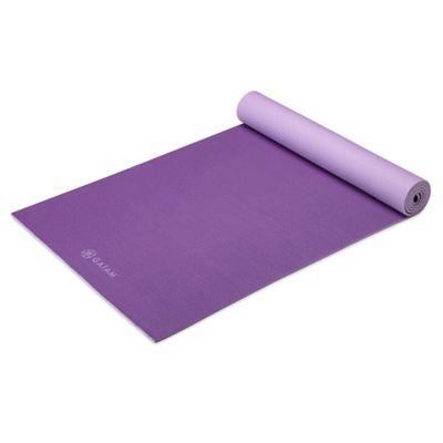 Gaiam® 5mm Reversible Plum Jam Yoga Mat