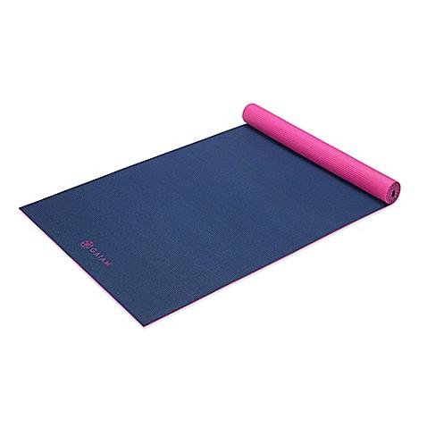 Gaiam 174 3mm Reversible Navy Fleur 2 Color Yoga Mat