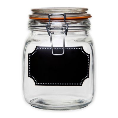 Home Essentials & Beyond Chalk It Up Dot 35 oz. Bail and Trigger Canister