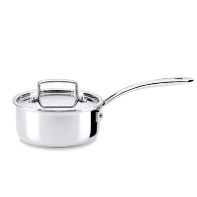 The French Chefs™ 5-Ply Stainless Steel 1.5 qt. Covered Saucepan