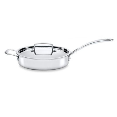 The French Chefs™ 5-Ply Stainless Steel 3 qt. Covered Sauté Pan with Helper Handle