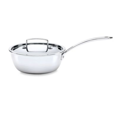 The French Chefs™ 5-Ply Stainless Steel 3 qt. Covered Saucier
